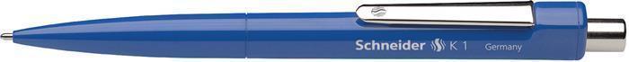 """Kuličkové pero """"K1"""", stiskací mechanismus, 0,5 mm, modrá, SCHNEIDER"""