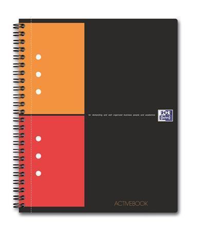 "Sešit ""International Activebook"", kroužková vazba, A5+, čtverečkovaný, 80 listů, OXFORD"