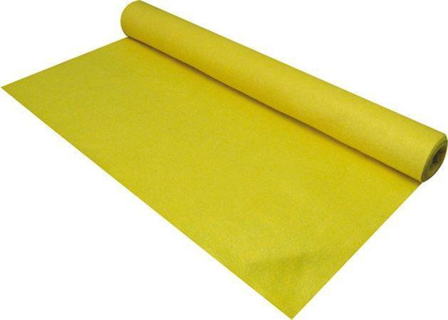 Plst, žlutá,měkká, role