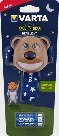 "Čelovka ""Paul the Bear"", LED, 3xAAA, VARTA"