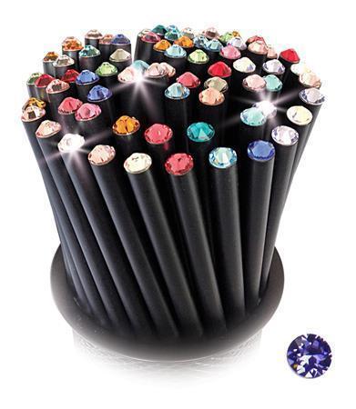 Grafitová tužka, SWAROVSKI® Crystals, purpurová tanzanite, 17cm, černá Počet kusů v balení: 5