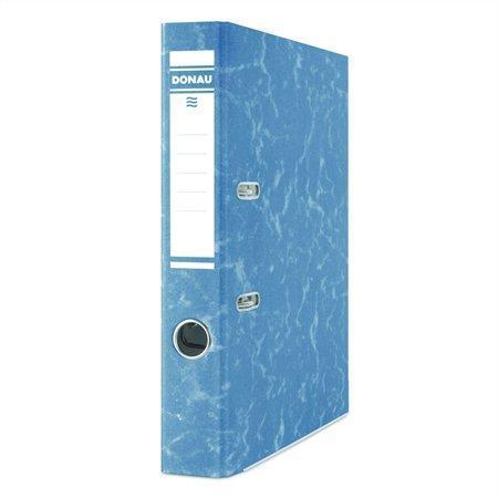 """Pákový pořadač """"Eco"""", modrý, 50 mm, A4, s ochranným spodním kováním, karton, DONAU"""