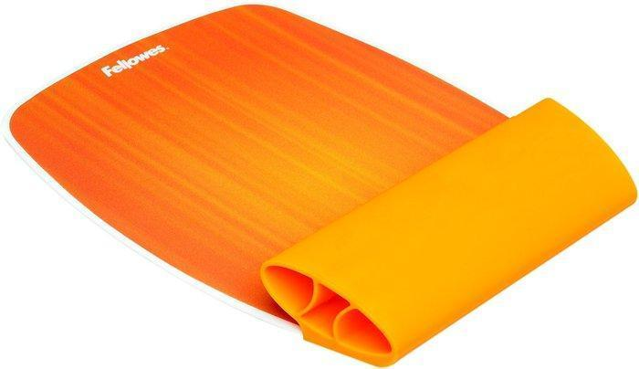 Opěrka zápěstí, Sunset Orange, silikon, FELLOWES