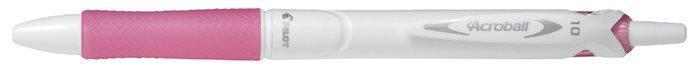 """Kuličkové pero """"Acroball Pure White"""", růžová, 0,32 mm, stiskací mechanismus, PILOT"""