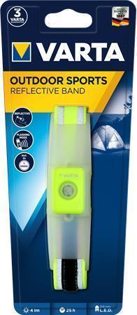 """Svítící náramek na sport """"Outdoor Sports"""", 2xCR2032, LED,  reflexní, VARTA"""