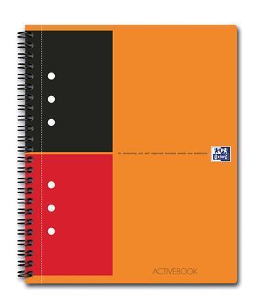 """Sešit """"International Activebook"""", kroužková vazba, A5+, linkovaný, 80 listů, OXFORD"""
