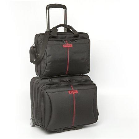"""Cestovní taška na kolečkách se samostatnou brašnou na notebook, 15,6"""", """"Frankfurt"""", VERBATIM"""