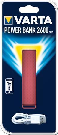 "Powerbank ""Powerpack 2600"", korálová, 2600 mAh, VARTA"