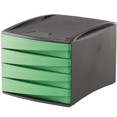 """Zásuvkový box """"Green2Desk"""", zelená, plastový, 4 zásuvky, FELLOWES"""