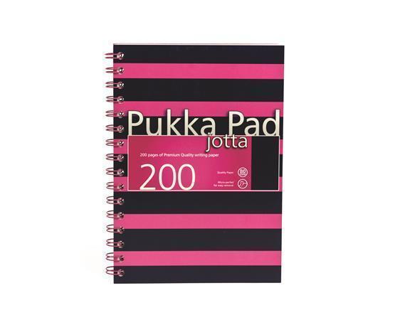"""Blok """"Navy Jotta"""", A5, růžová, čtverečkovaný, 100 listů, spirálová vazba, PUKKA PAD"""