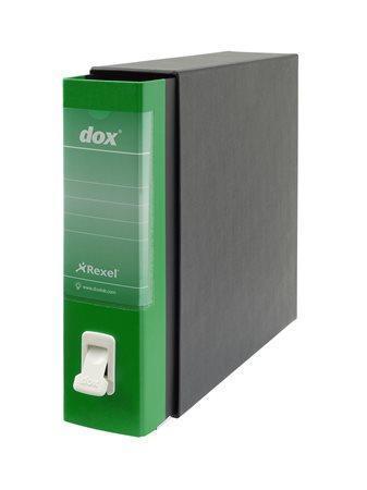 """Pákový pořadač s obalem """"Dox"""", zelená, 85 mm, A4, karton"""