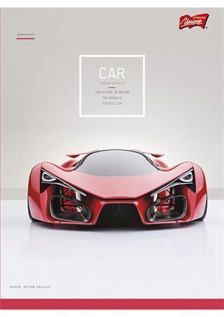 """Sešit """"Cars"""", A4, čtverečkovaný, 32 listů, UNIPAP"""