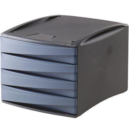 """Zásuvkový box """"Green2Desk"""", modrá, plastový, 4 zásuvky, FELLOWES"""
