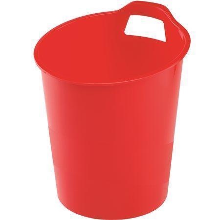 """Odpadkový koš """"Green2Desk"""", červená, plastový, FELLOWES"""