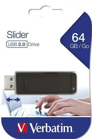 "64GB USB Flash 2.0 ""Slider"", VERBATIM, černý"