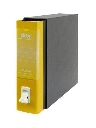 "Pákový pořadač s obalem ""Dox"", žlutá, 85 mm, A4, karton"
