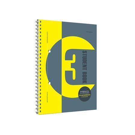 "Spirálový blok ""Student book 3"", A4, čtverečkovaný, 100 listů, TOP 2000"