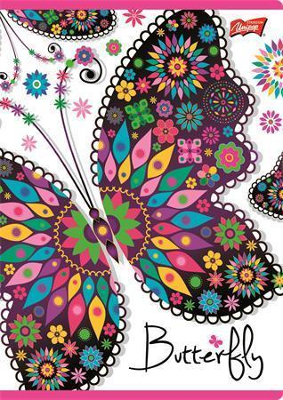 """Sešit """"Butterfly"""", slovník, A5, 32 listů, UNIPAP"""