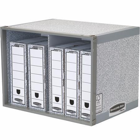 """Regál na archivaci """"Stax BANKERS BOX®"""", šedá, stohovatelný, FELLOWES"""