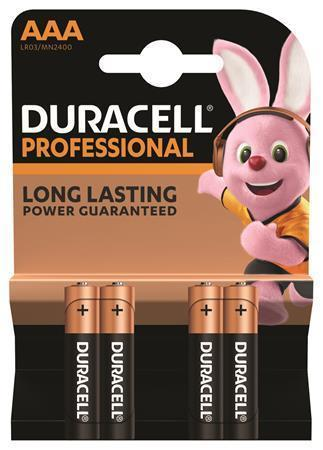 "Baterie ""Professional"", AAA, 4 ks, DURACELL"