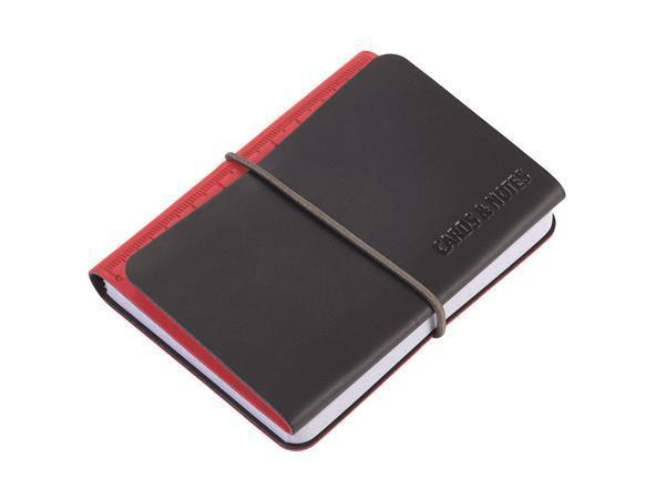 Poznámkový blok, červená, A7, 3 přihrádky na karty, TROIKA