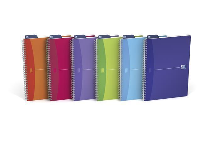 """Sešit """"Office My Colours"""", kroužková vazba, A4, čtverečkovaný, 90 listů, OXFORD"""